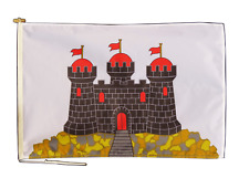 More details for edinburgh flag with rope and toggle - various sizes