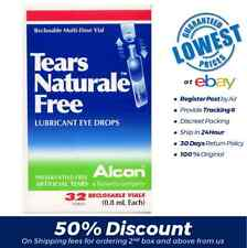 ALCON TEARS NATURALE FREE 32 Vial (0.8ml) LUBRICANT EYE TEAR DROPS Exp:2019-12