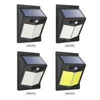 Solar LED Wall Light PIR Motion Sensor 3 Modes Outdoor Garden Yard Security Lamp