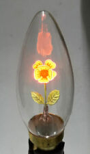 Lot Of 2 Bulb B22 240v Red Rose Flower Night Light Candle Lamp Retro Edison Nib