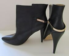 """NEW Cynthia Rowley """"ESIDE""""  Black Leather Ankle Boots 9.5M"""