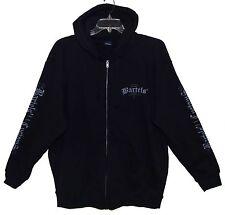 NEW Sz XL BARTELS' CUSTOMS LOS ANGELES Hooded Jacket Front Zip Black Cotton/Poly