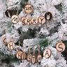 PT_ 10PCS Albero di Natale Ornamento Fai-Da-Te Legno Tondo Disco Write Draw Pi