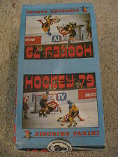 1979-80 Panini Hockey Sticker Box 100 Packs & Album