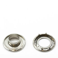 """Grommets, #4 Stainless Steel, Heavy Duty Rolled Rim Spur, 1/2"""" Inch Hole"""