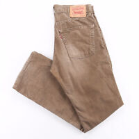 Vintage LEVI'S 551 Brown Corduroy Regular Straight Trousers Mens W31 L32