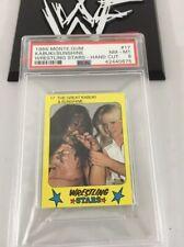 Great Kabuki & Sunshine 1986 Monte Gum Wrestling Stars Card #17 Psa 8 Low Pop