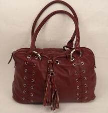 RED LEATHER HANDBAG SHOULDER BAG BY HAMPTON LEATHER GOODS