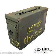 30 CAL AMMUNITION BOX AMMO STEEL FULLY SEALED EX MILITARY ARMY