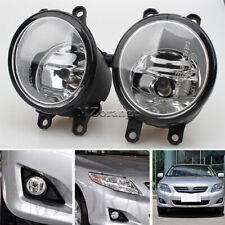 2x Front Bumper Fog Light For Toyota Camry RAV4 07-12 Corolla 08-14 Sienna 11-14