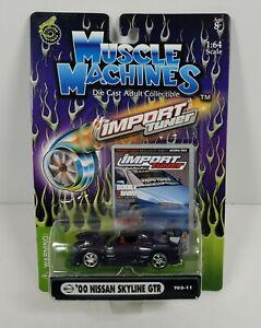 Muscle Machines Import Tuner '00 Nissan Skyline GTR Purple 1:64 Die Cast Car