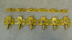 Vintage window sash locks 6 sets total Gold colored window locks No screws