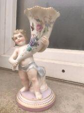 porcelaine ancienne angelot ange putti corne abondance 19 eme