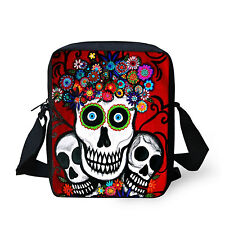 Casual Skull Zombie Handbag Women Lady Messenger Sling Cross Body Shoulder Bag