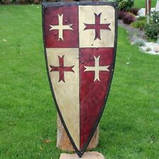 Medieval Larp Warrior Wood & Steel Crusader shield II, 13th century