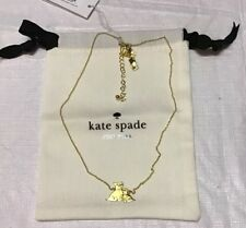 Dog Pendant Necklace Women's Nwt Kate Spade Gold-Tone Mom Knows Best