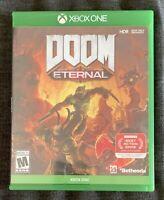 DOOM Eternal (Microsoft Xbox One, 2020) Complete w Case Game Disc Manual Artwork