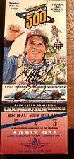 Tony Stewart First Indianapolis 500 1996 autograph Signed Complete Ticket Rare