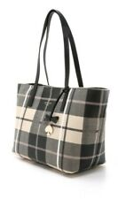 kate spade new york 245134 Womens Plaid Textured faux Leather Tote Bag Multi