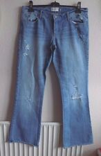ABERCROMBIE & FITCH Size 12R LADIES DISTRESSED & FADED LOOK JEANS BOOTCUT