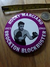 *REDUCED*  TRIBUTE BOXER HEAVYWEIGHT CHAMP ROCKY MARCIANO BOXING PIN BACK BADGE