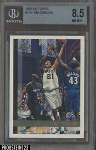 1997-98 Topps #115 Tim Duncan San Antonio Spurs RC Rookie HOF BGS 8.5 w/ 9.5