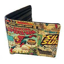 Marvel Comics Retro Wallet New (FREE P+P) Comic Strip Pages Spiderman Wallet