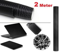 3D Black Carbon Fiber Vinyl Auto Car Wrap Sheet Roll Film Sticker Decal 200*60cm