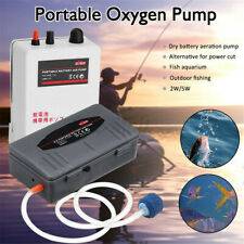 2W/5W Aquarium Air Pump Fish Tank Mini Air Compressor Battery Oxygen Pump !