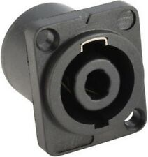 4-polige Speakon kompatible Einbaubuchse Speaker Einbaukupplung 4-pol D-Form NEU