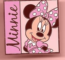 Disney Pin MINNIE MOUSE in pink Large Square 2012  EUC