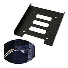 2.5Inch SSD HDD to 3.5 Inch Metal Mounting Adapter Bracket Dock Hard Drive Black