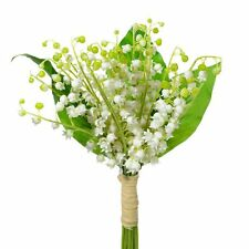 37cm Artificial Lily of the Valley Flower Bundle - White Flowers - Wedding