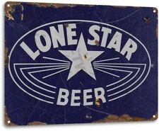 Lone Star Beer Texas Retro Weathered Wall Decor Bar Man Cave Metal Tin Sign