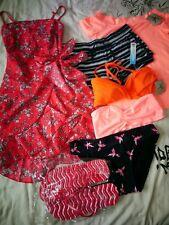 Summer holiday dress, tops, swimwear, flip flops, shorts mixed bundle UK 10
