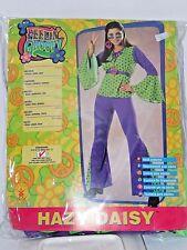 Size 12 Women's Teen 60's Bell Bottom Flower Hippie Costume Cosplay Halloween