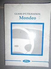 Ford MONDEO 1998 : notice d'entretien