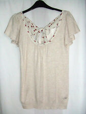 Gorgeous Beige Tie Back Top from Miso - Size 8 - Free P&P