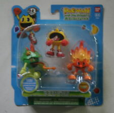 PAC MAN AND THE GHOSTLY ADVENTURES MINT NEW SEALED TOY FIGURES TYPE 1 BANDAI