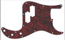 P Bass Precision Pickguard Custom Fender 13 Hole Guitar Pick Guard Paisley BK-RD