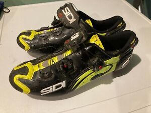 sidi drako carbon srs mtb shoes black/fluro yellow EU45.5