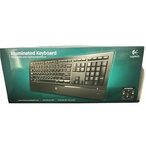 Logitech Illuminated Ultrathin Keyboard K740 With Laser-Etched Backlit Very Good