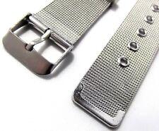 bracciale orologi acciaio maglia milano mesh tessita ansa 20 mm