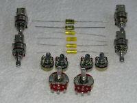 10 Stk. diverse Potentiometer + 6 Stk. 47nf Kondensatoren für den Gitarrenbauer