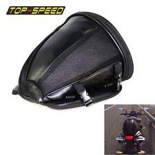 Black Seat Rear Storage Motorcycle Bag Motorcycle Package Saddle Bag New