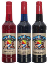 Choose Your Flavors! 3 Bottles of Snow Cone Syrup - Maui Tropic Brand