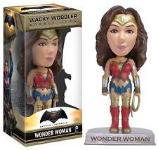 BATMAN vs SUPERMAN Figura WONDER WOMAN Bobble Head 15cm Originale FUNKO Wobbler