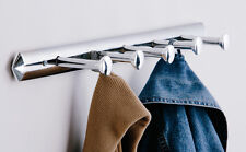 Chrome Wall Hanger 5 Hooks Pegs For Clothes Coat Hanging Rack Brand New