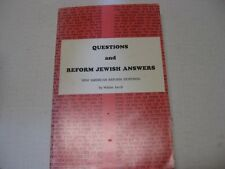 Questions and Reform Jewish Answers: New American Responsa by Walter Jacob