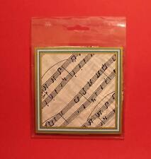 Music Gift White Manuscript Design Handkerchief Musician Orchestra Teacher NEW
